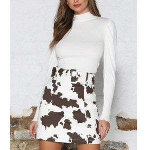BDG URBAN OUTFITTERS NWOT Skirt Jadon Cow Print